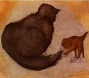 Edward Coley Burne-Jones - Gato e gatinho