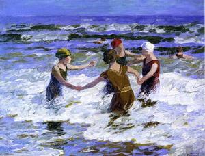 Edward Henry Potthast - praia divertido