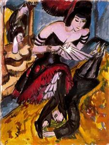 Ernst Ludwig Kirchner - Pantomima Reimann, Revenge of the dancer