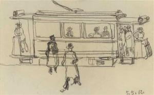 George Grosz - Tram Car