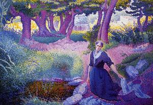 Henri Edmond Cross - A Lavadeira