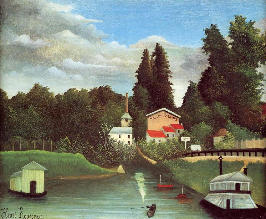 The Mill at Alfort, 1904 por Henri Julien Félix Rousseau (Le Douanier) | WahooArt.com