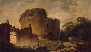 Hubert Robert - Tomb of Cecilia Metella