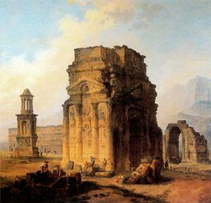 Hubert Robert - Arco do Triunfo e Amphitheater em Orange