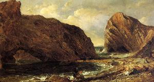 Jasper Francis Cropsey - perto do mar , Lulworth