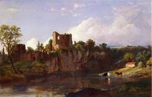 Jasper Francis Cropsey - Chepstow Castle on the Wye