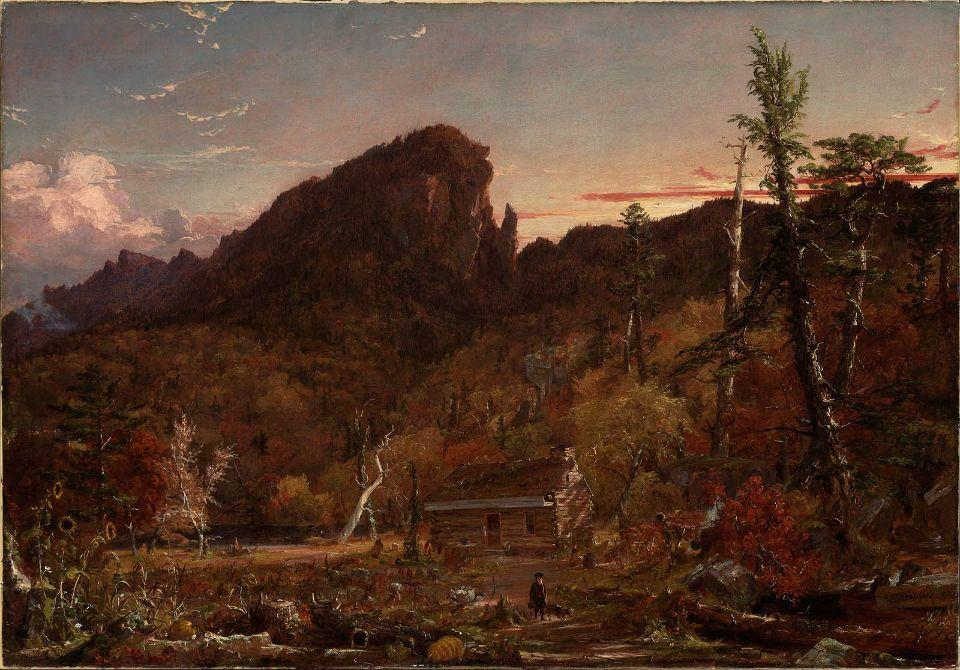 Águia Cliff, New Hampshire por Jasper Francis Cropsey (1823-1900, United States)