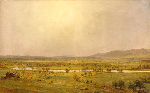 Pompton Plains, New Jersey por Jasper Francis Cropsey (1823-1900, United States)