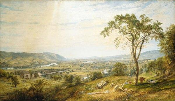 The Valley of Wyoming por Jasper Francis Cropsey (1823-1900, United States)