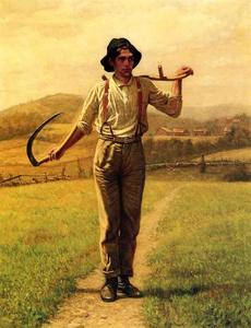 John George Brown - Fieldhand com Sythe