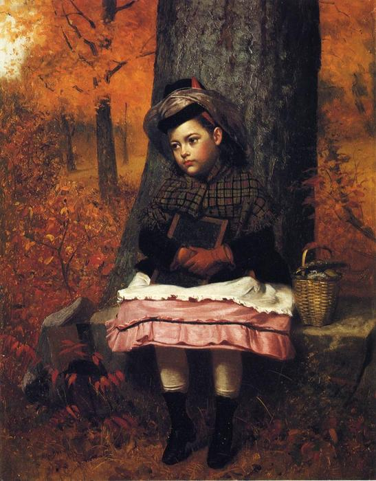 Escola encadernado, 1873 por John George Brown (1831-1913, United Kingdom) | WahooArt.com