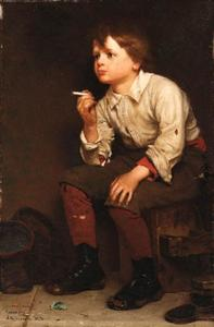 John George Brown - Shoeshine Boy Fumar