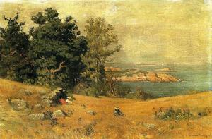 John Joseph Enneking - Berrying no litoral