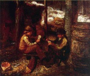 Jonathan Eastman Johnson - no `maple` açúcar acampamento