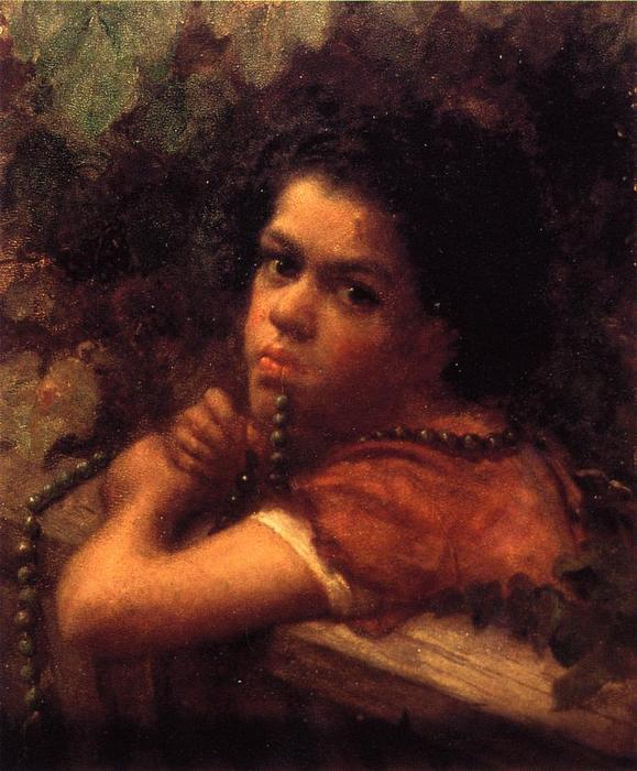 Hannah no meio das Videiras por Jonathan Eastman Johnson (1824-1906, United Kingdom)