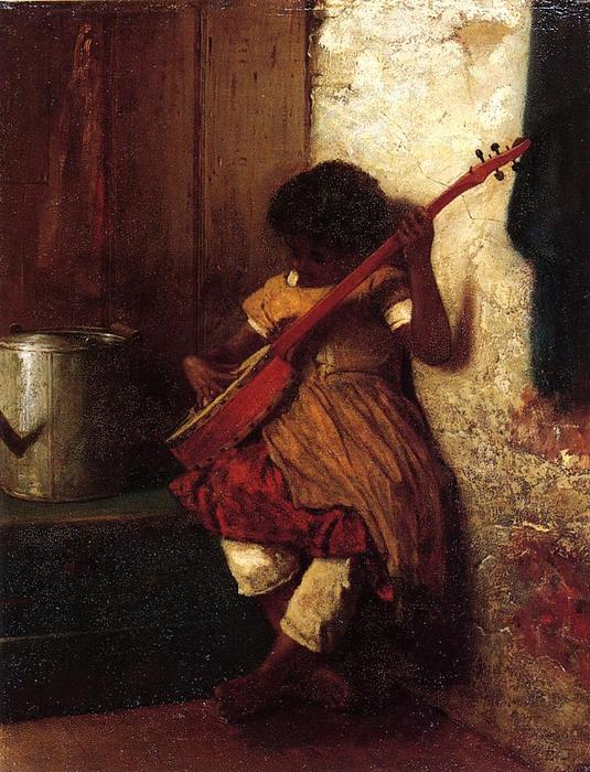 Instinto Musical por Jonathan Eastman Johnson (1824-1906, United Kingdom)