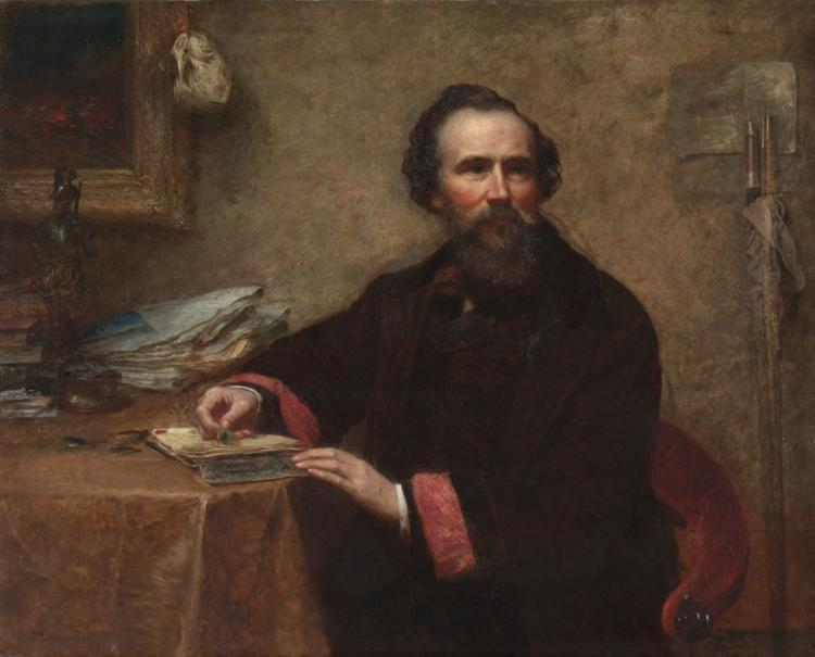 Retrato de Genio C. Scott por Jonathan Eastman Johnson (1824-1906, United Kingdom)