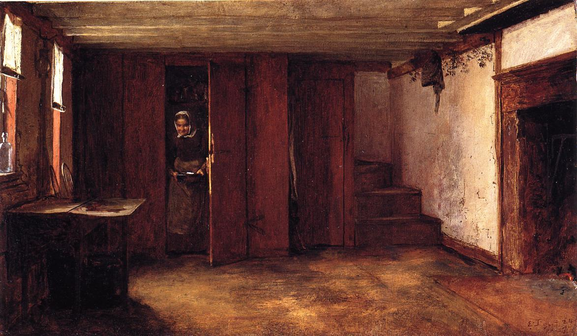 De Susan Ray Kitchen - Nantucket por Jonathan Eastman Johnson (1824-1906, United Kingdom)