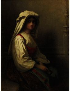 Jonathan Eastman Johnson - The Girl Bohemian