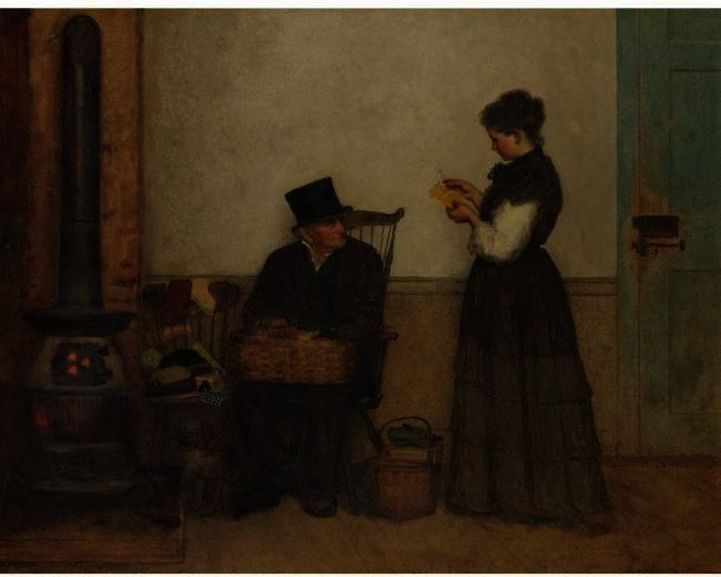 O Peddler (Nantucket) por Jonathan Eastman Johnson (1824-1906, United Kingdom)