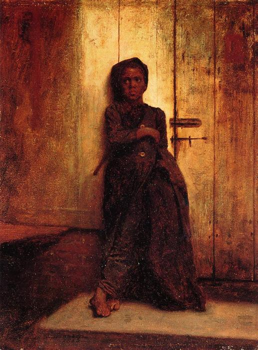 A varredura Jovem por Jonathan Eastman Johnson (1824-1906, United Kingdom)
