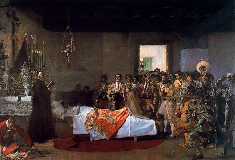 A morte do Professor por José Villegas Cordero (1844-1921, Spain)