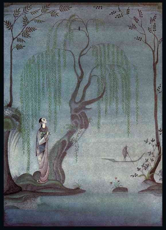 The Nightingale. À noite, eu escuto o Nightingale por Kay Rasmus Nielsen (1886-1957, Denmark)