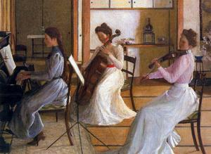 Lilla Cabot Perry - O Trio (Alice, Edith e Margaret Perry)