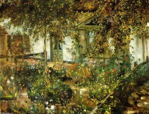 Lovis Corinth (Franz Heinrich Louis) - Pátio no Bloom