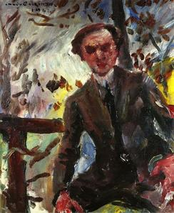 Lovis Corinth (Franz Heinrich Louis) - Retrato do pintor Leo Michelson