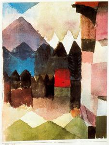 Paul Klee - Foehn no jardim do Marc