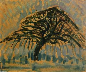 Piet Mondrian - Estudo para Blue Series Apple Tree