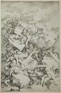 Salvator Rosa - a queda of os giants 1
