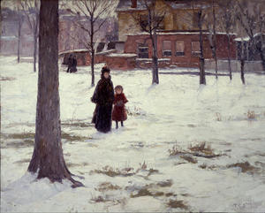 Theodore Clement Steele - 16th Rua , Indianapolis ( inverno manhã )