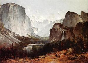 Thomas Hill - a vista de `yosemite` vale