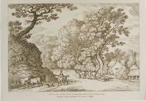 Thomas Rowlandson - Cottage no pé do Router Mountain Cornualha