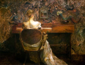 Thomas Wilmer Dewing - O Spinet