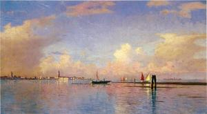 William Stanley Haseltine - pôr do sol à grande canal Veneza