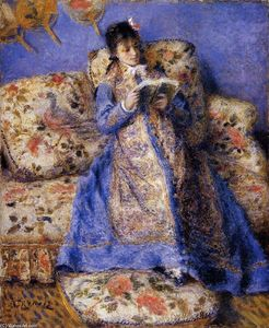 Pierre-Auguste Renoir - Reading Camille Monet