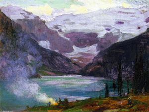 Edward Henry Potthast - Camp by Lake Louise