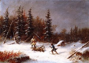 Cornelius David Krieghoff - A Hunter Caribou