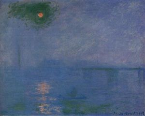 Claude Monet - charing cross ponte , nevoeiro no tamisa