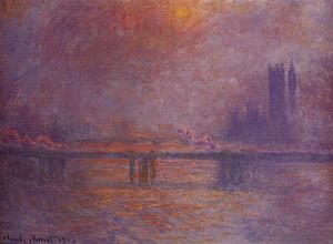 Claude Monet - charing cross ponte , o tâmisa
