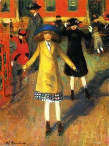 William James Glackens - Crianças Roller Skating