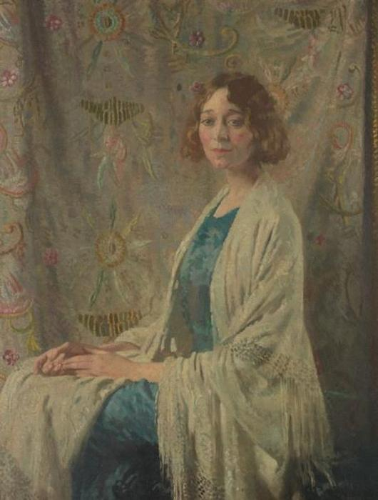 O xale chinês, óleo sobre tela por William Newenham Montague Orpen (1878-1931, Ireland)