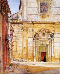 Henry Roderick Newman - O Church of San Giovanni , Lucca