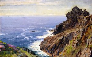 William Trost Richards - costa próximo `boscastle` , Cornwall