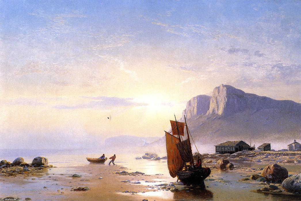 Costa do Labrador, óleo sobre tela por William Bradford (1590-1657, United Kingdom)