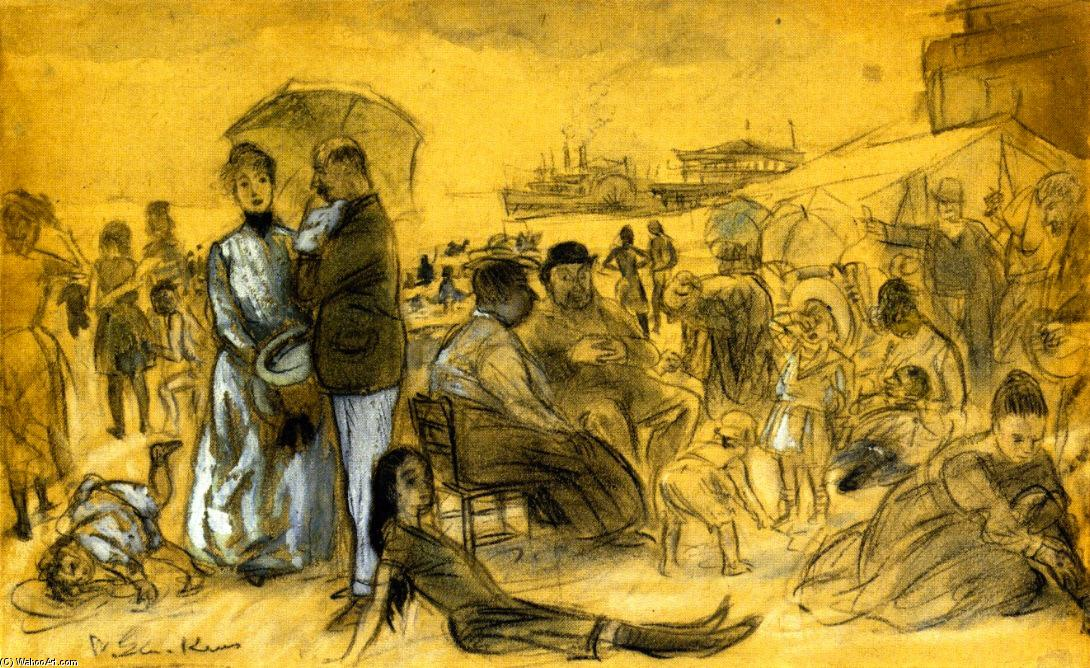 Coney Island, desenho por William James Glackens (1870-1938, United States)