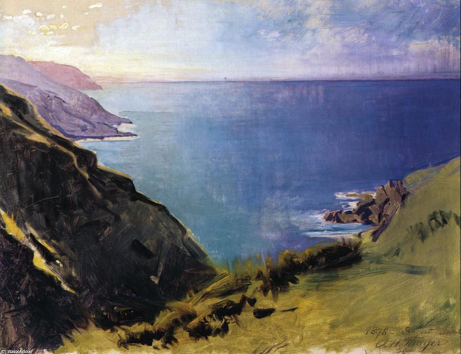 Cornish Headlands, óleo sobre tela por Abbott Handerson Thayer (1849-1921, United States)